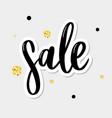 black letters sale hand sketched sale lettering vector image