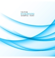 Blue abstract wavy lines eps10 vector image vector image