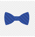blue striped bow icon flat style vector image