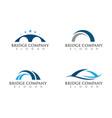 bridge icon logo vector image vector image