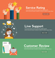 Business customer care service concept rating on vector image