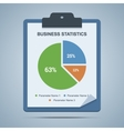 Business statistics clipboard vector image
