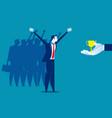 businessman team happy to success concept vector image vector image