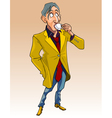 cartoon man in fashionable clothes standing vector image vector image