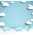 clouds with blue sky poster vector image vector image
