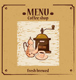 coffee menu template for coffee shop with coffee vector image vector image