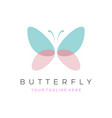 colorful butterfly logo overlay transparent vector image vector image