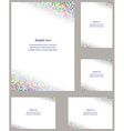 Colorful mosaic page corner design template set vector image vector image