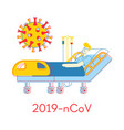 coronavirus 2019- ncov concept sick man lying in vector image vector image