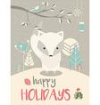 cute arctic christmas bafox vector image