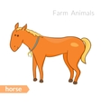 cute cartoon horse with horseshoe isolated vector image vector image