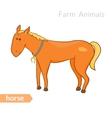 cute cartoon horse with horseshoe isolated vector image