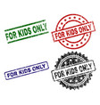 damaged textured for kids only seal stamps vector image vector image