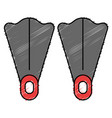 diving fins isolated icon vector image vector image