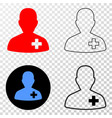 doctor eps icon with contour version vector image vector image