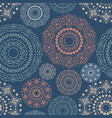 ethnic seamless pattern with tribal ornaments vector image