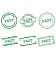 Fast stamps vector image vector image
