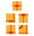 flat style wrapped gift or gift card vector image