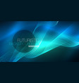 glowing abstract wave on dark shiny motion vector image vector image