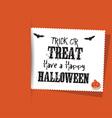 Halloween label background vector image vector image