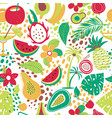 hawaiian seamless pattern with tropical fruits and vector image vector image