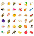 healthy food icons set isometric style vector image vector image