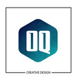 initial oq letter logo template design vector image vector image