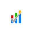 market statistic report logo template vector image vector image