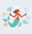 mermaid woman vector image