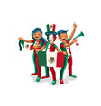 mexico flag mexican people vector image vector image