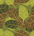 Military texture of leaves Spinach Camouflage army vector image vector image