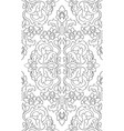oriental floral pattern vector image vector image
