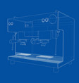 outline coffee machine vector image
