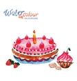 pastries and cakes white background with space for vector image vector image