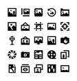 Photos and Images Icons 1 vector image vector image