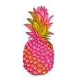 pineapple creative trendy art poster vector image vector image