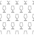 seamless pattern from cocktail glass black vector image vector image