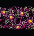 seamless pattern with floral tropical batik motif vector image vector image