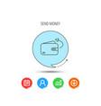 send money icon cash wallet sign vector image