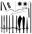 Set of item bladed weapons vector image