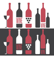 set of on wine theme vector image vector image