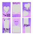 set of valentines day instagram sale stories vector image vector image