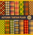 set tartan seamless pattern background autumn vector image vector image