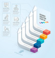 Start up business staircase direction vector image vector image