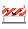 traffic barrier flat icon colorful kawaii vector image vector image