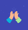two hands are giving a high-five vector image