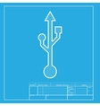 USB sign White section of icon on vector image vector image