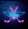 vintage hockey emblem vector image vector image