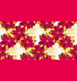 xmas poinsettia flowers seamless pattern vector image vector image