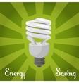 Concept energy saving lamp vector image
